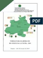 Normas para Elaboração de Consultas - 12ª ICFEx
