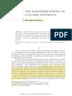 The Alexander school of cultural sociology