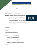 ACTA DIRECCION DE GRUPO