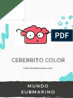 Cerebrito Libro Colorear Mundo Submarino