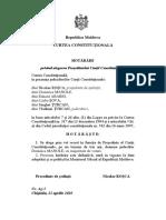 HOTĂRÂRE privind alegerea Președintelui Curții Constituționale