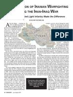 The Evolution of Iranian Warfighting During the Iran-Iraq War