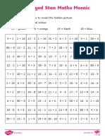 Starry-Eyed Stan Mixed Operation Maths Mosaic Activity Sheet