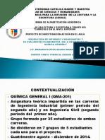 Producción de informes y monografías y su evaluación colaborativa en la asignatura de Química General