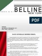 Maybelline New York Managementul Desfacerii