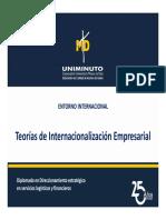 TEORIAS DE INTERNACIONALIZACIÓN