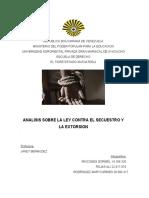 Analisis sobre la Ley Contra el Secuestro y La extorsion parte II.docx