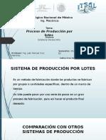 Produccion por lotes
