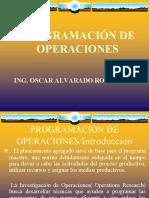 11-PROGRAMACIÓN DE OPERACIONES