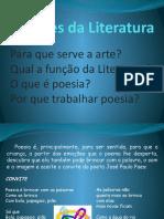 Funções da Literatura aula do 1 ano