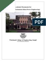 M.Tech. Mechanical Heat Power Engineering Document 2018-19