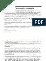 Blackstone 1 q 20 Earnings Press Release