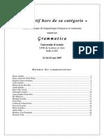 Colloque-Adjectif 2007_Resumes