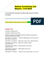 Unlocking Medical Terminology 2nd Edition by Wingerd – Test Bank