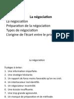 Etapes de négociation
