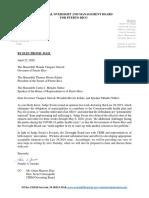 Carta de la Junta Fiscal