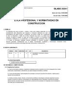 SILABUS DE ETICA PROFESIONAL