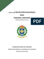 GUÍA PROTECCIÓN PSICOLÓGICA PARA PERSONAL SANITARIO