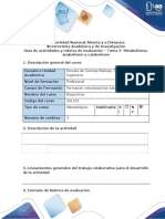 Guía de actividades y rúbrica evaluación - Tarea 3 - Metabolismo  Catabolismo y Anabolismo