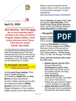 Moraga Rotary Newsletter April 21 2020