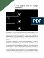Cómo crear una página web sin código mediante Adobe Muse