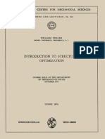 [International Centre for Mechanical Sciences 212] William Prager (auth.) - Introduction to Structural Optimization_ Course Held at the Department of Mechanics of Solids, October 1974 (1972, Springer-Verlag Wien).pdf