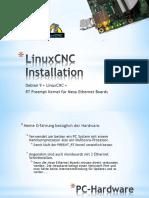 Anleitung Debian 9 Mesa Ethernet 7i76e + LinuxCNC