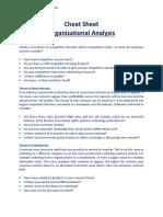 Cheat Sheet (Organizational Analysis) (1)