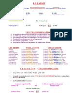 Le passif, frances 8 Explication