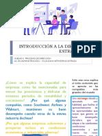 INTRODUCCIÓN DE LA DIRECCIÓN ESTRATÉGICA - UNIDAD 1