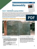 January 2011 Learning English Advanced worksheets