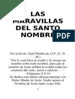 LAS MARAVILLAS DEL SANTO NOMBRE
