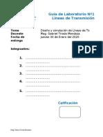 GUÍA DE LABORATORIO Nº 1 lineas de transmision