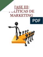 Fase III Politicas de Marketing