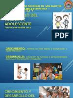 CRECIMIENTO Y DESARROLLO DEL ESCOLAR Y ADOLESCENTE