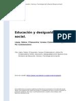 Lopez, Nestor, D'Alessandre, Vane (..) (2006). Educacion y desigualdad social