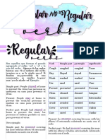 regulars and irregulars verbs