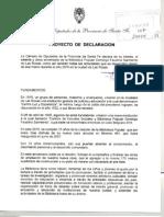 Decleracion de Interes aniversario Biblioteca Las Rosas