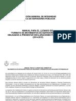 MANUAL PARA EL LLENADO DEL FORMATO