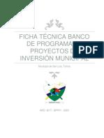 Modelo de Proyecto Adquisiciones de Equipos Tecnológicos, San Luis, Tolima