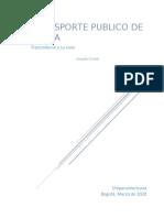 Transporte publico de Bogota_Ensayo final