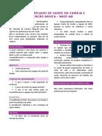 RESUMO - NÚCLEO AMPLIADO DE SAÚDE DA FAMÍLIA E ATENÇÃO BÁSICA – NASF-AB
