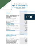 Estados Financieros SODIMAC