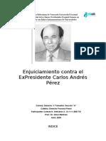 ENJUICIAMIENTO CONTRA EL EXPRESIDENTE CARLOS ANDRES PEREZ