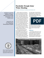 Parabolic-Trough Solar Water Heating