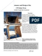 Performance and Design of the CTI Solar Oven