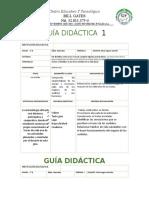 GUIA CIENCIAS NATURALES  1 y 2