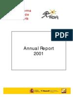 Plataforma Solar de Almeria - Annual Report 2001