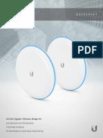 DataSheet Antenas para enlace punto a punto 60GHz Gigabit+ Wirelles Bridge Ubiquiti UniFi Building Bridge.pdf