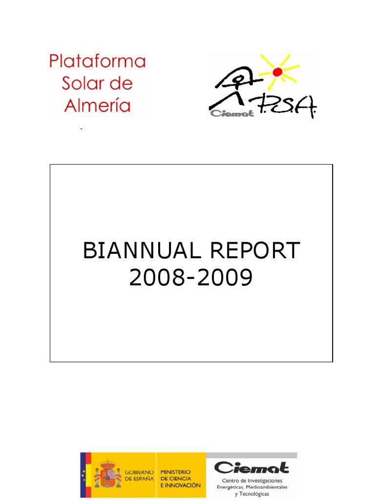 Plataforma Solar De Almeria Annual Report 2008 2009 Energy Ibanez At100 Wiring Diagram Steam